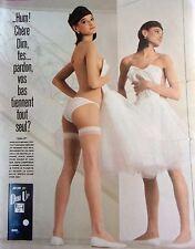 publicité de presse -  BAS   DIM UP  de DIM   en 1986  REF. 34361