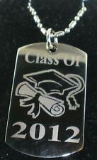 GRADUATION CLASS OF 2016 DOG TAG PENDANT NECKLACE CHAIN TAG 1