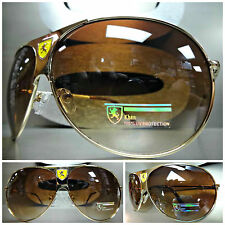 Mens or Women CLASSIC OVERSIZE VINTAGE Cool AVIATOR Style SUN GLASSES Gold Frame