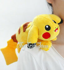 "Pikachu RIDING on the Shoulder 7"" #1 Poke Plush Doll Figure"