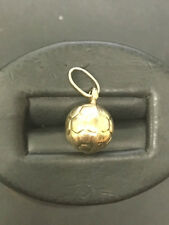 Stunning 14k Yellow Gold Soccer Ball Pendant. Made in Italy