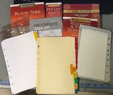 Lot Of Sheets 125+ CLASSIC Franklin Covey Refills Daytimer Tabs Paper Pouches