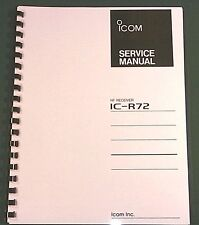 Icom IC-R72 Service Manual - Premium Card Stock Covers & 28lb Paper