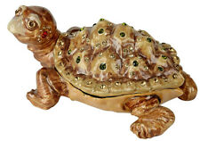 Pewter Big Turtle Figure with Matching Necklace Inside Pendant Charm Tortoise