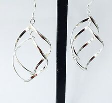Genuine large SILVER EAR RINGS, Special Jewellery