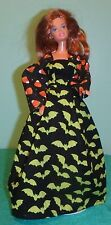 Green Bats & Candy Corn Halloween Gown for Barbie Doll HH29