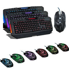 3 Backlight Colors Red / Blue / Purple Gaming Keyboard + 2400DPI 6D Game Mouse
