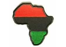 AFRICA MAP EMBROIDERED IRON ON BIKER PATCH