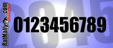 RACE NUMBERS * PACK OF 30 * ACU REGULATION 150mm - RACE TRACK STICKERS GRAPHICS