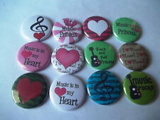 "20 I love Music 1"" pin back Buttons."