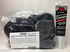 AW 99 Vermont Castings Dutchwest Stove Gasket Kit (pre-1993) Complete w adhesive