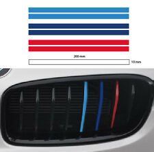 M grill stripe 10mm BMW sport decal sticker vinyl performance 3 color (2set)