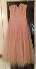 Vintage 1950s  Pink Lace Full Tulle Skirt Cupcake Prom Wedding Party Dress