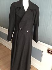 Exquisite woman's full length Louis Feraud wool trench coat made in Germany