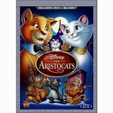 Disney The Aristocats Paris French Cats Animated Movie on DVD Blu-ray Combo Pack