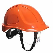Portwest Endurance Visor Hard Hat Safety Helmet  ORANGE Builders PW55