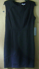Women's Jennifer Lopez Black Sleeveless Fitted Stretch Casual Dress 12 NWT