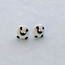 sheep earrings studs handmade easter gift cute nickle free emo baa Xmas gift