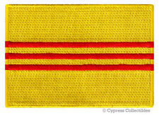 REPUBLIC of SOUTH VIETNAM FLAG PATCH iron-on EMBROIDERED SOUVENIR APPLIQUE WAR