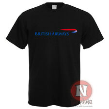 Naughtees Clothing British Airways logo plane spotters airline crew t-shirt
