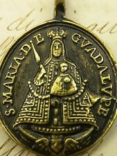 St. Jerome & Our lady of Guadalupe Shrine Antique Carmelite Nun's Rosary Medal