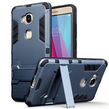 Huawei Honor 5X Reinforced Rugged Extreme Element Case Built In Stand Black Blue