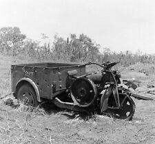 WW2 Photo WWII  Japanese Motorcycle Abandoned New Guinea  World War Two /1440