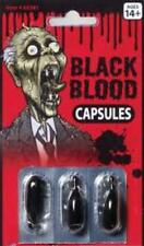 Black Blood Zombie Capsules - Great Theatrical Makeup Prop - Halloween Make-Up