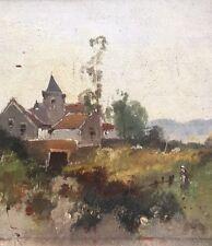 Ölgemälde Landschaft mit Haus signiert L. Dupuy  (Eugéne Galien Laloue )..