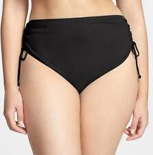 Michael Michael Kors Shirred Side Bikini Bottoms 22 W (Black)