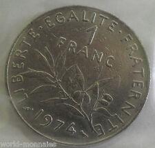 1 franc semeuse 1974 : TTB : pièce de monnaie française