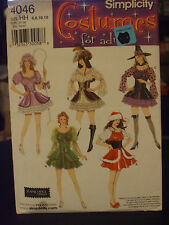 Simplicity 4046 Sexy Bo Peep Witch Fairy Mrs. Claus Costume Pattern - Size 6