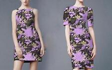 Lilac Gold Embroidery Jacquard Dress Fabric Floral Brocade Designer Fabric 1M