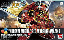 Bandai SDBF KURENAI MUSHA RED WARRIOR AMAZING Build Fighters Try Model Kit NEW