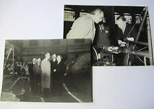LIV051 c1930s 2x Photos of VIP Shown BRITISH INSULATED CABLE Co PRESCOT FACTORY