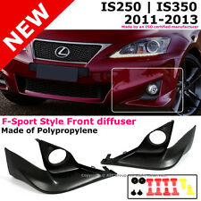 Lexus IS250 350 11-13 F-Sport Front Bumper Fog Light Lip Spoiler Ground Effect