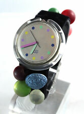 "SWATCH --- ""Bottone"" Ref. PWK153 Limited Edition Pop Swatch Christmas 1991 NEW!"