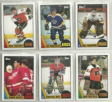1987-88 TOPPS 198-card Hockey Set w/ Luc Robitaille & Adam Oates ROOKIES