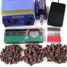 Professional Electric Acrylic Nail Drill File Machine Kit Bits Manicure Set