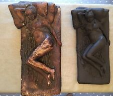 Wedgwood Black Basalt, Girl on a Bed by James Butler RA. 1/1 Unique Piece