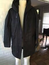 AllSaints Chilton Parka Cotton and Poly oversized black trench coat, size M