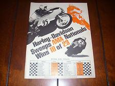 1969 HARLEY DAVIDSON CAFE ROAD RACER  - ORIGINAL VINTAGE AD