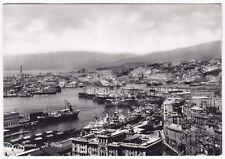 GENOVA CITTÀ 521 PORTO Cartolina FOTOGRAFICA VIAGGIATA 1953