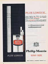 PUBLICITE ADVERTISING 054 1962 PHILIP MORRIS cigarettes plus longues