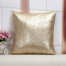 "Sequin Beaded Cushion Cover Gold Sofa Cushion Cover  Pillow Cover 16""x16"""