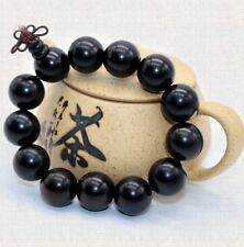 Chinese Handmade 18mm Ebony Wood Beads Bracelet for Cool Man and Fashion Men