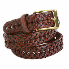 Dockers Men's Casual Leather Braided Belt 11DO0403 Brown Size 44