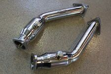Beluga Racing FX37 VQ37VHR 3.7L Performance Exhaust Resonated Test Pipes Decat