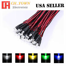 5x5 25pcs 3mm Water Clear Pre-Wired White Red Blue Light DC 9-12V LED Mix Kits