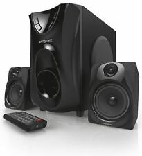 Creative E2400 Home Theater System Wooden subwoofer cabinet, Bass Reproduction